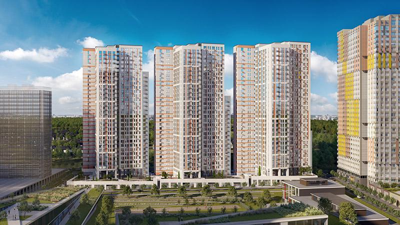 Продаётся 1-комнатная квартира в новостройке 38.8 кв.м. этаж 13/31 за 6 065 177 руб