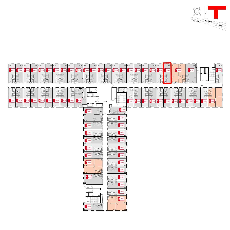 Продаётся  квартира-студия 24.8 кв.м. этаж 2/17 за 2 527 560 руб