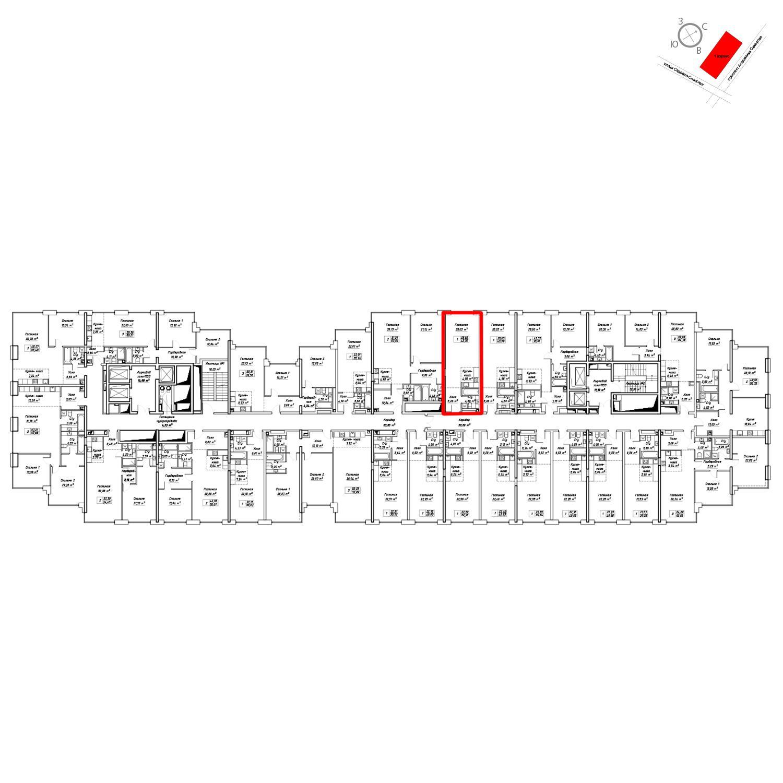 Продаётся  квартира-студия 44.0 кв.м. этаж 9/19 за 18 031 800 руб