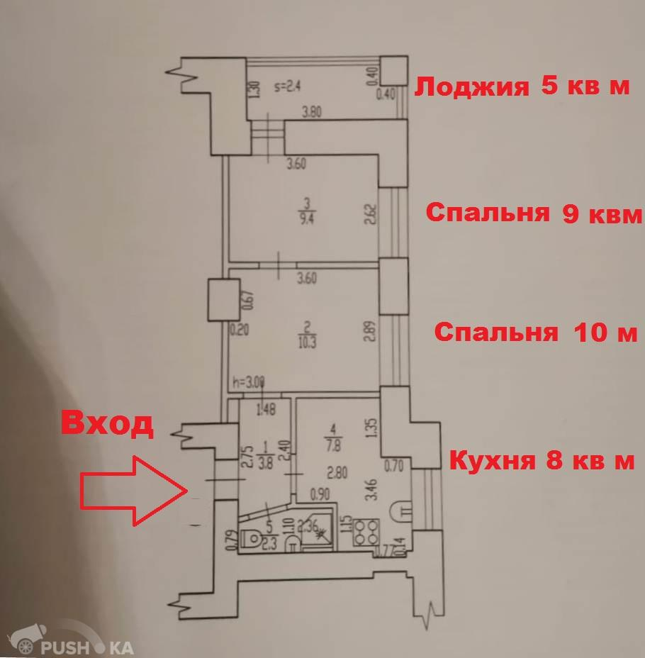 Продаётся 2-комнатная квартира 36.0 кв.м. этаж 3/5 за 2 150 000 руб