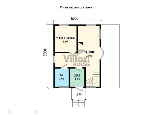 Продаётся  дом/дача 96.0 кв.м.  за 2 980 000 руб