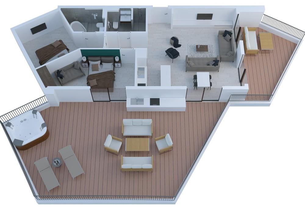 Продаётся  квартира 36.0 кв.м.  за 61 234 EUR