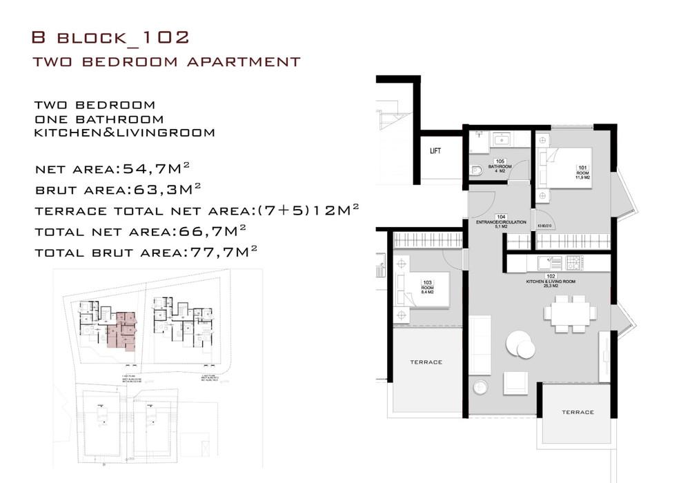 Продаётся  квартира 47.0 кв.м.  за 100 125 EUR