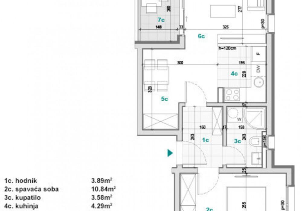 Продаётся  квартира 31.0 кв.м.  за 58 900 EUR