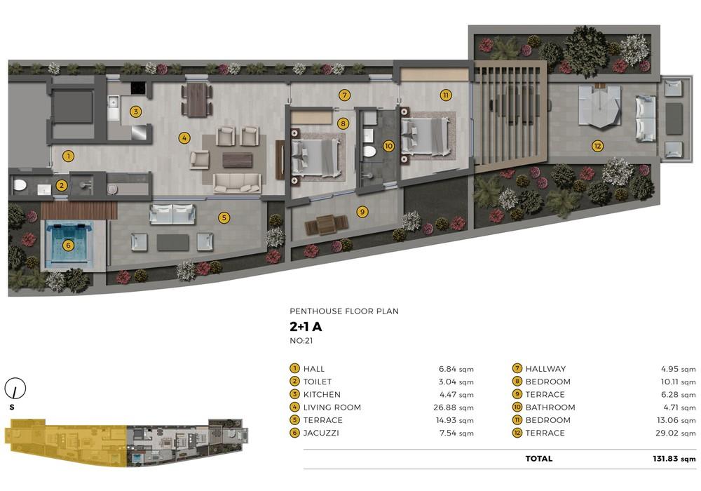 Продаётся  квартира 31.0 кв.м.  за 79 716 EUR