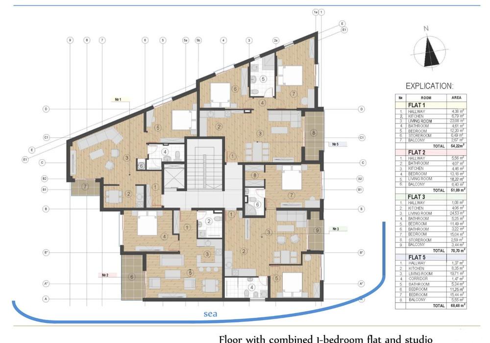 Продаётся  квартира 47.0 кв.м.  за 126 900 EUR