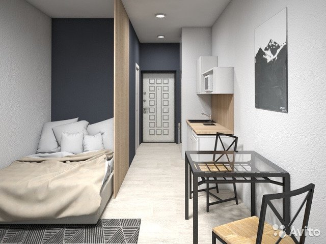 Продаётся 1-комнатная квартира в новостройке 21.0 кв.м. этаж 2/10 за 1 900 000 руб