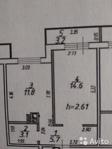 Продаётся 1-комнатная квартира в новостройке 38.0 кв.м. этаж 5/5 за 2 149 999 руб