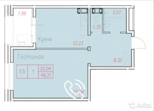 Продаётся 1-комнатная квартира в новостройке 49.0 кв.м. этаж 3/10 за 9 500 000 руб