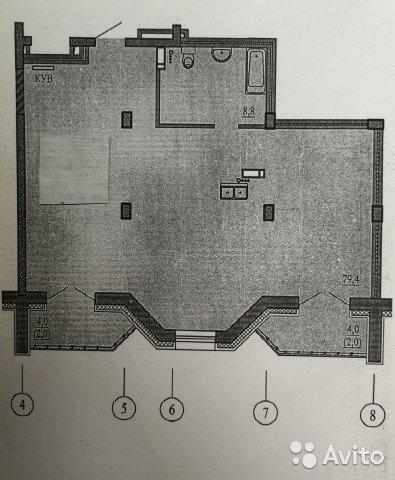 Продаётся 3-комнатная квартира в новостройке 96.2 кв.м. этаж 3/5 за 7 100 000 руб
