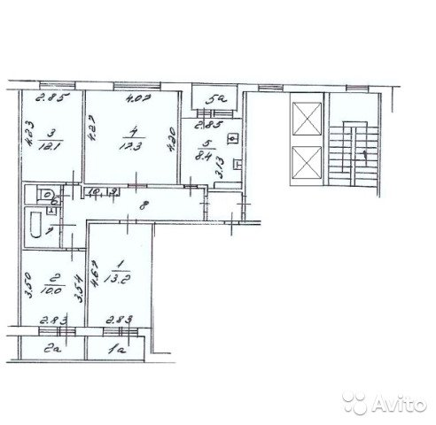 Продаётся 4-комнатная квартира 79.3 кв.м. этаж 2/12 за 14 968 000 руб