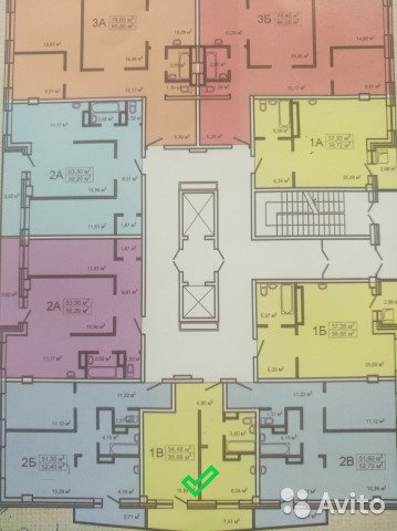 Продаётся 1-комнатная квартира в новостройке 36.7 кв.м. этаж 12/12 за 1 888 000 руб