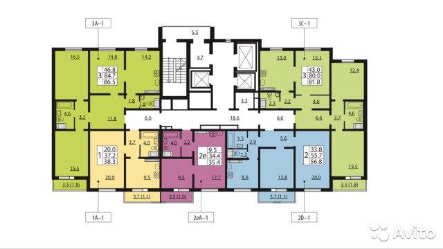 Продаётся 3-комнатная квартира в новостройке 86.5 кв.м. этаж 21/23 за 9 150 000 руб