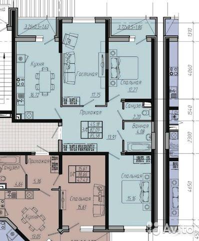 Продаётся 3-комнатная квартира в новостройке 85.0 кв.м. этаж 11/20 за 4 700 000 руб