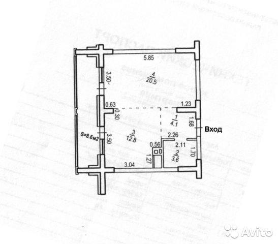 Продаётся 1-комнатная квартира в новостройке 41.0 кв.м. этаж 4/25 за 4 290 000 руб