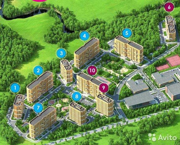 Купить однокомнатную квартиру в новостройке Московская область, Троицк, Поселок марьено - World Real Estate Service «PUSH-KA», объявление №7221