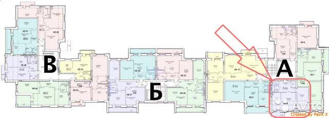 Продаётся 2-комнатная квартира в новостройке 57.4 кв.м. этаж 4/10 за 2 150 000 руб