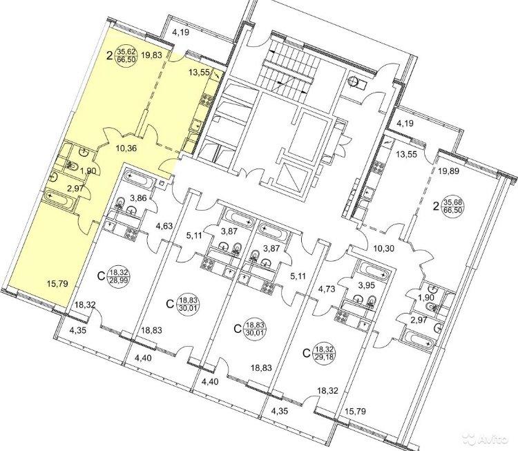 Продаётся 2-комнатная квартира в новостройке  этаж 9/25 за 5 950 000 руб