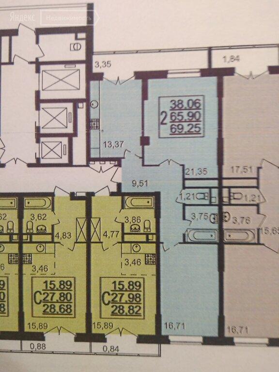 Продаётся 2-комнатная квартира в новостройке  этаж 4/25 за 5 900 000 руб