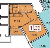 Продаётся 1-комнатная квартира в новостройке  этаж 22/22 за 3 050 000 руб