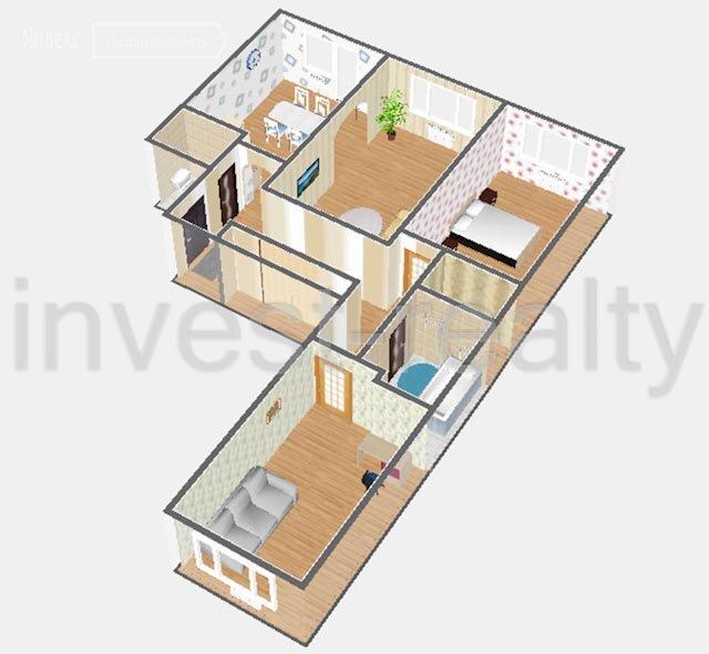 Купить трёхкомнатную квартиру Химки, Молодёжная улица, 78 - World Real Estate Service «PUSH-KA», объявление №748