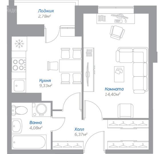 Купить однокомнатную квартиру в новостройке посёлок Мирный, жилой комплекс Томилино, 13 - World Real Estate Service «PUSH-KA», объявление №5890